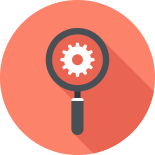Magnifer and gear to demonstrate search engine optimisation